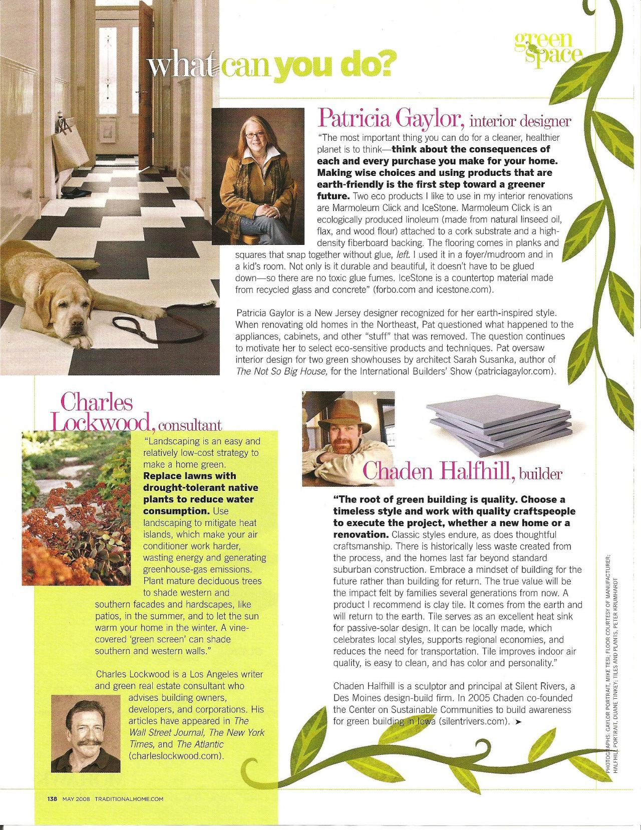 Patricia Gaylor Interiors - magazine articles